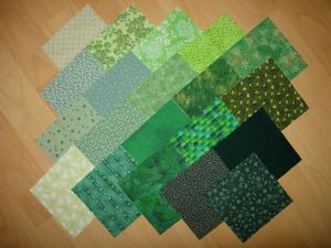 20 coupons  patchwork verts