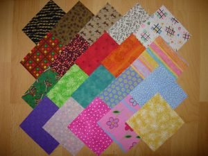 20 coupons  patchwork multicolores