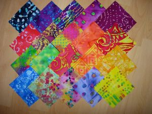 lot de 20 coupons patchwork batiks
