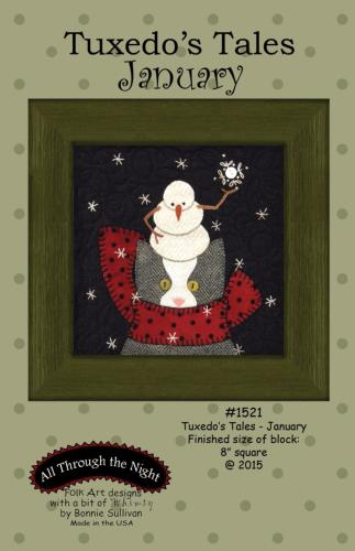 Block Of The Month - BOM Bonnie Sullivan - Tuxedo's Tales- mois de Janvier