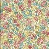 Fat deTissu Makower  Liberty Pas Cher –Tapis de Fleurs Rouge et Jaune  – Collection Alison's Flowers