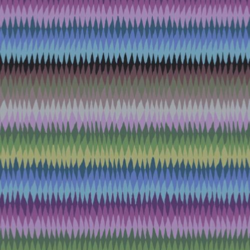 Tissu Kaffe Fassett GP170 - Diamond Strip Dark