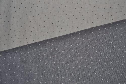 Tissu patchwork toile de lin lot de 2 coupons petits pois ficelle et gris - Lot tissus patchwork pas cher ...