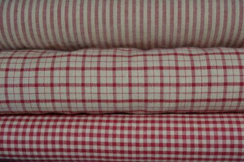 tissu patchwork country lot de 3 coupons rouge et cru. Black Bedroom Furniture Sets. Home Design Ideas