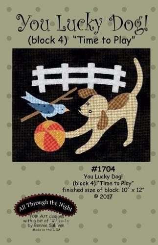 Block Of The Month - BOM Bonnie Sullivan - you lucky dog- block 4