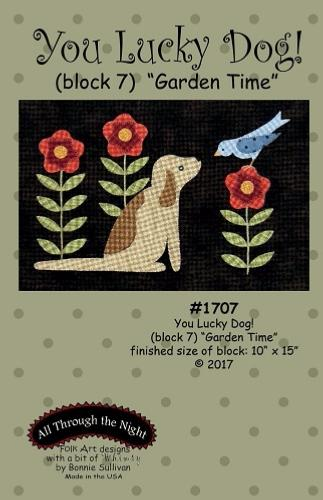 Block Of The Month - BOM Bonnie Sullivan - you lucky dog- block 7