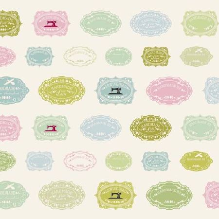 FAT de tissu patchwork  Tilda Sewingbird Labels 45x50cm