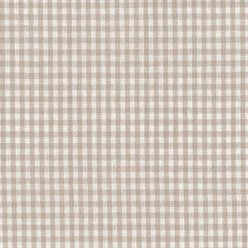 Tissu Lin - Petits Carreaux Blancs - Collection Shabby Chic