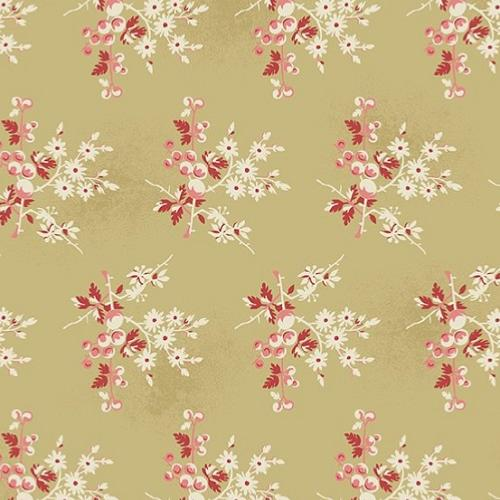 Tissu Makower Edyta Sitar - Little Sweetheart - Fresh Berries- beige