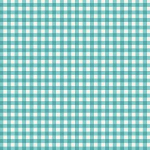 Tissu Patchwork Makower – Vichy Turquoise  – Tea Party