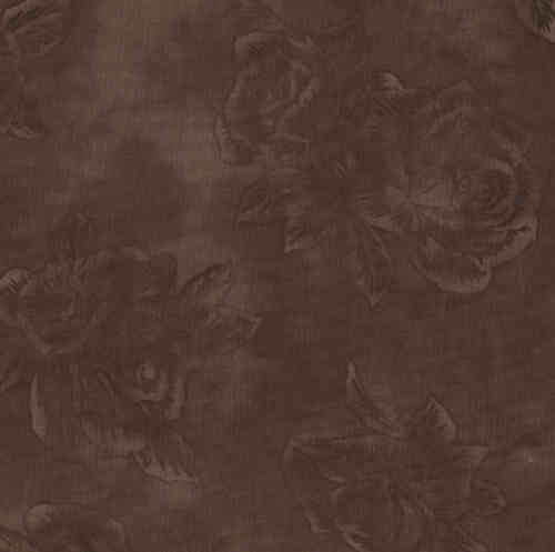 Tissu patchwork Stof - roses ombrées chocolat
