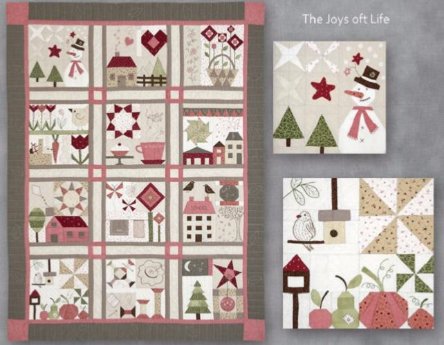 Block Of The Month - BOM Mary Suarez - The Joy of Life- mois de Juillet