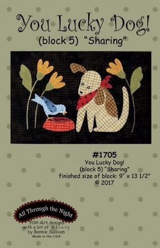 Block Of The Month - BOM Bonnie Sullivan - you lucky dog- block 5