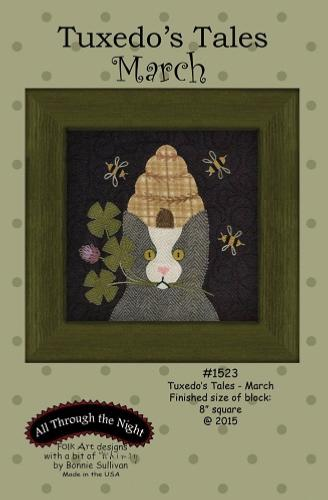 Block Of The Month - BOM Bonnie Sullivan - Tuxedo's Tales- mois de Mars