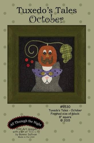 Block Of The Month - BOM Bonnie Sullivan - Tuxedo's Tales- mois d'Octobre