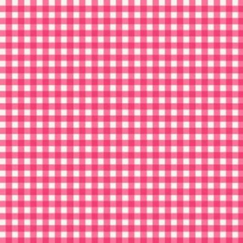 Tissu Patchwork Makower – Vichy Rose  – Tea Party