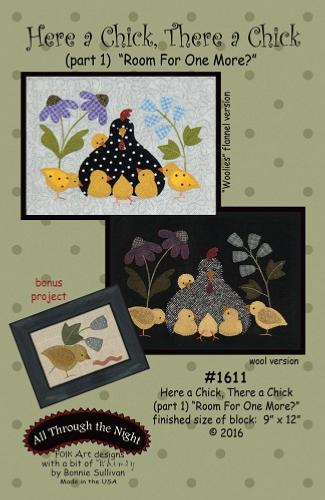 Block Of The Month - BOM Bonnie Sullivan - Here a Chick- block 1