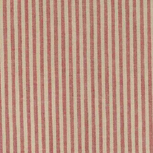 Tissu Country Stof - Rayures Rouge et écru