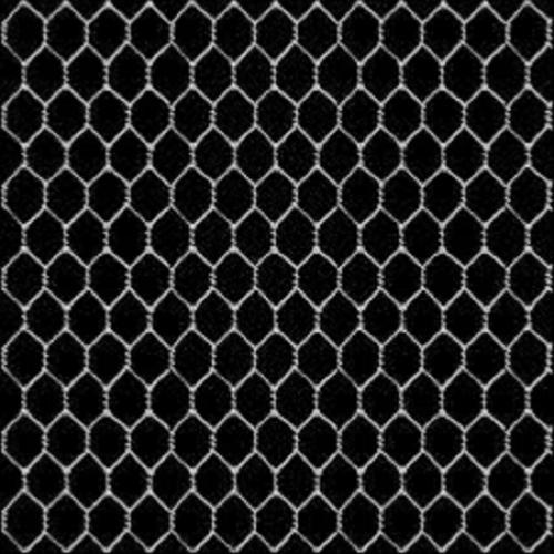 Tissu Patchwork Grillage De Poule Gris Sur Fond Noir