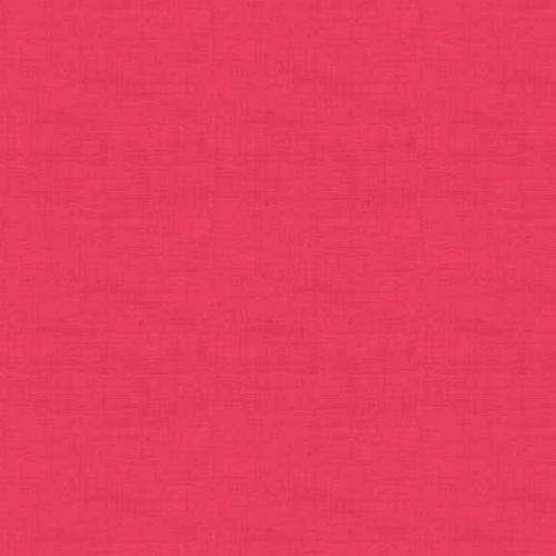 Tissu patchwork Makower -Texture lin rose Fuschia - Collection Linen