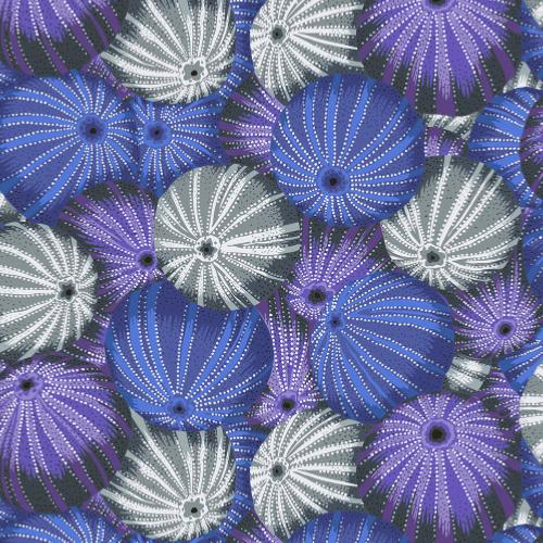 Tissu Patchwork Kaffe Fassett  - Sea Urchins - PJ100 Grey