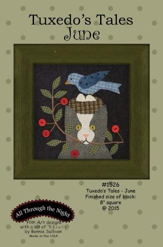 Block Of The Month - BOM Bonnie Sullivan - Tuxedo's Tales- mois de Juin