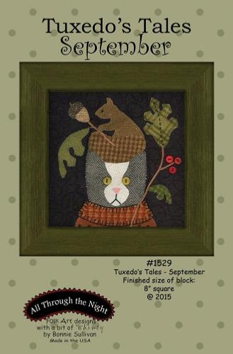 Block Of The Month - BOM Bonnie Sullivan - Tuxedo's Tales- mois de Septembre