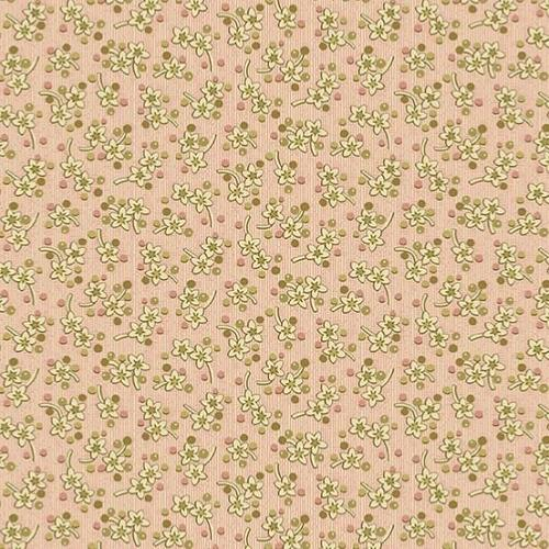 Tissu Makower Edyta Sitar - Bed Of Roses - Sweet Mint Pink