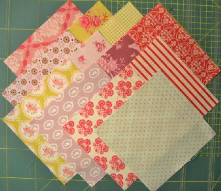 lot de  12 coupons patchwork  tilda 15 x15 cm