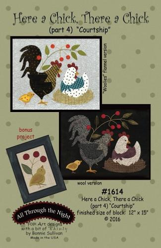Block Of The Month - BOM Bonnie Sullivan - Here a Chick- block 4