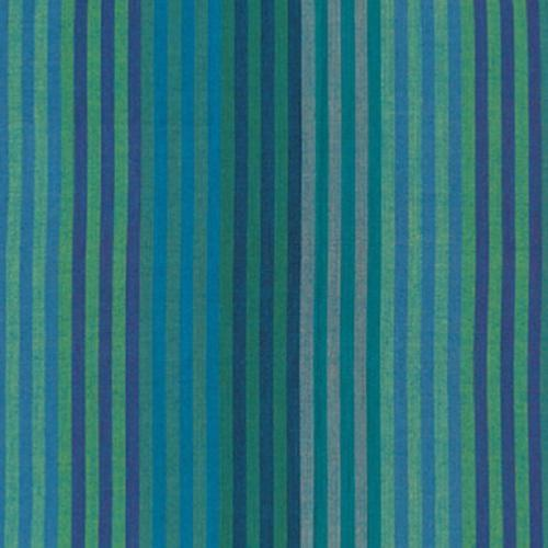 Tissu Kaffe Fassett - Caterpillar Stripe - Blue