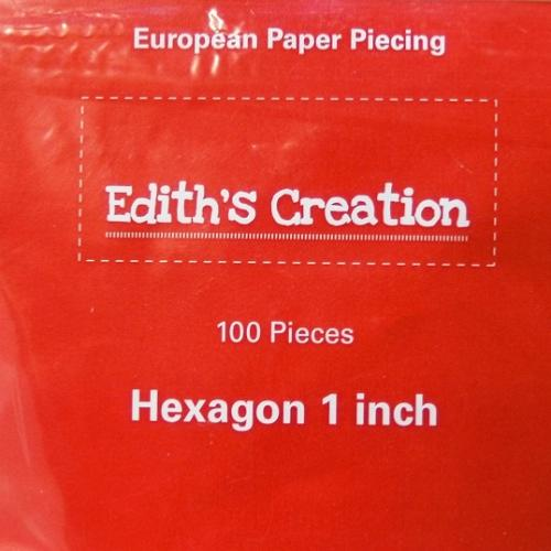 Gabarits Hexagone Patchwork 1 inch - Edith's Creation