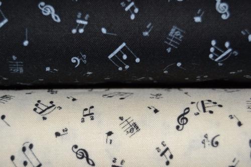 Tissu patchwork pas cher lot de 2 coupons notes de musique - Lot tissus patchwork pas cher ...