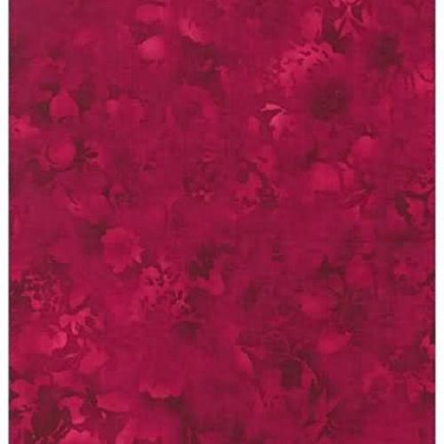 Tissu Patchwork Fusion bloom Tons sur Tons floral framboise