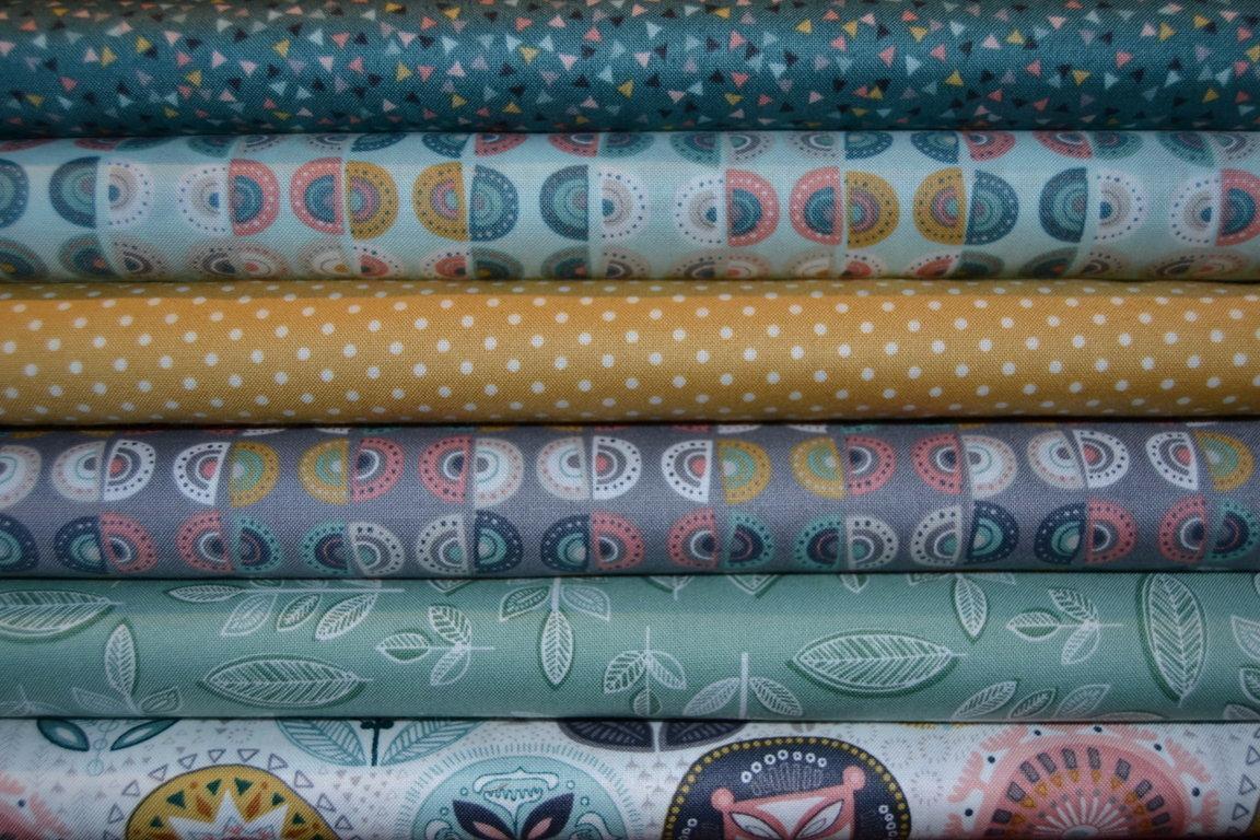 Tissu patchwork makower sophia lot de 6 coupons patchwork coordonn s - Lot tissus patchwork pas cher ...