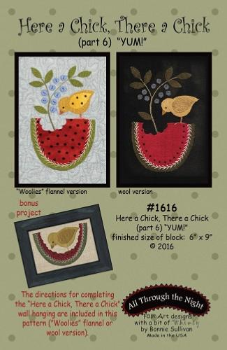 Block Of The Month - BOM Bonnie Sullivan - Here a Chick- block 6