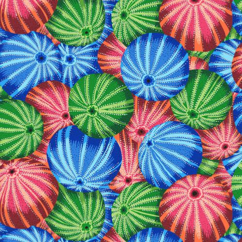 Tissu Patchwork Kaffe Fassett  - Sea Urchins - PJ100 Multi