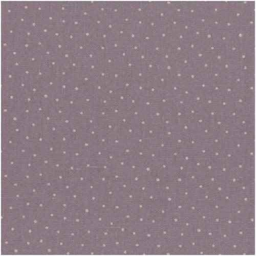 Tissu Lin - Petits Pois Ficelle fond parme -Shabby Chic