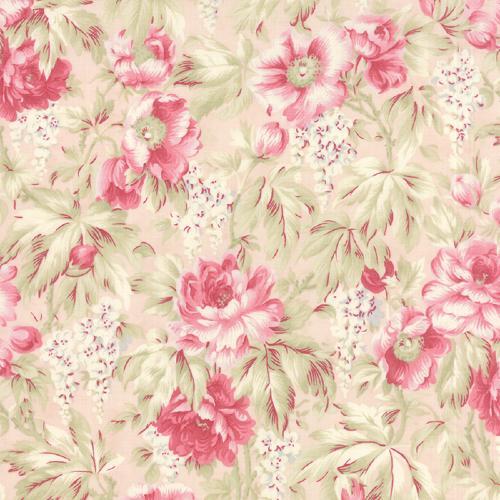 tissu patchwork grosses fleurs sur fond rose tissu patchwork moda favorites 3 sisters. Black Bedroom Furniture Sets. Home Design Ideas