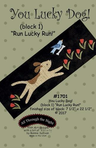 Block Of The Month - BOM Bonnie Sullivan - you lucky dog- block 1