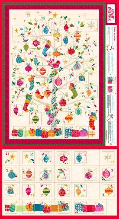 tissu patchwork no l calendrier de l 39 avent arbre. Black Bedroom Furniture Sets. Home Design Ideas