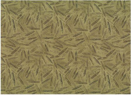 Tissu patchwork stof plumes de stylo sur fond vert mousse - Enlever stylo sur tissu ...