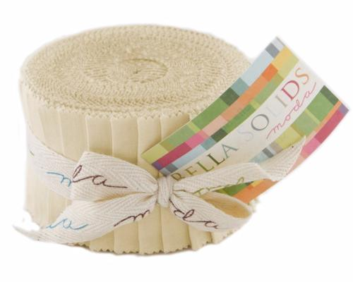 Jelly Roll Moda Solid Beige Clair Uni - Bandes Patchwork