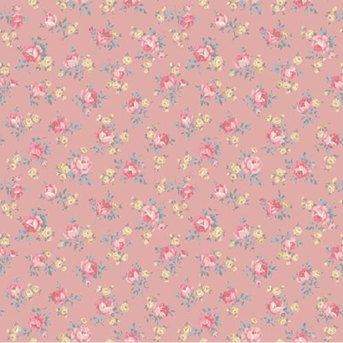 Tissu shabby- Collection Mary Rose- Tissu patchwork Petites Rose