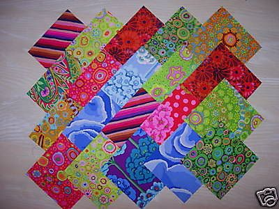 lot de 20 coupons patchwork kaffe fassett
