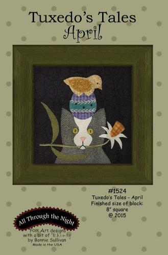 Block Of The Month - BOM Bonnie Sullivan - Tuxedo's Tales- mois d'avril