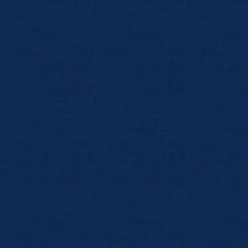 Tissu patchwork Makower -Texture lin Bleu Navy - Collection Linen