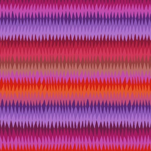 Tissu Kaffe Fassett GP170 - Diamond Strip Red