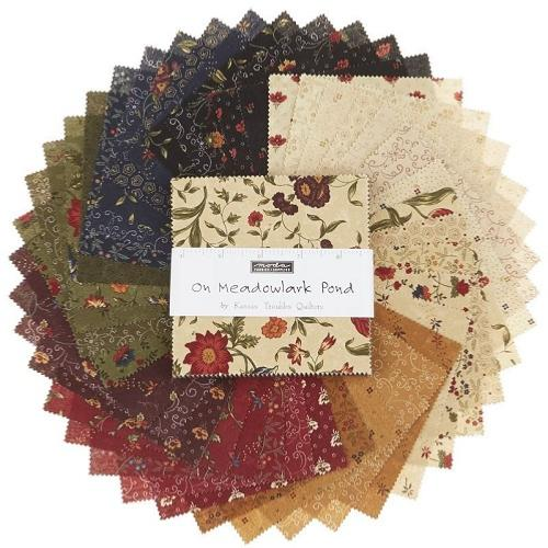 Charm Pack lot de 42 coupons Moda On Meadowlark Pond