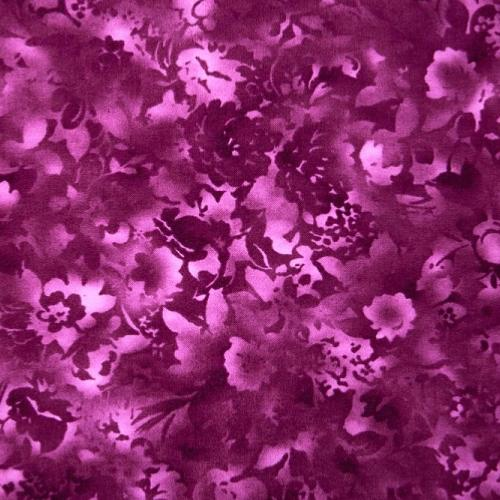 Tissu Patchwork Fusion bloom Tons sur Tons floral raisin